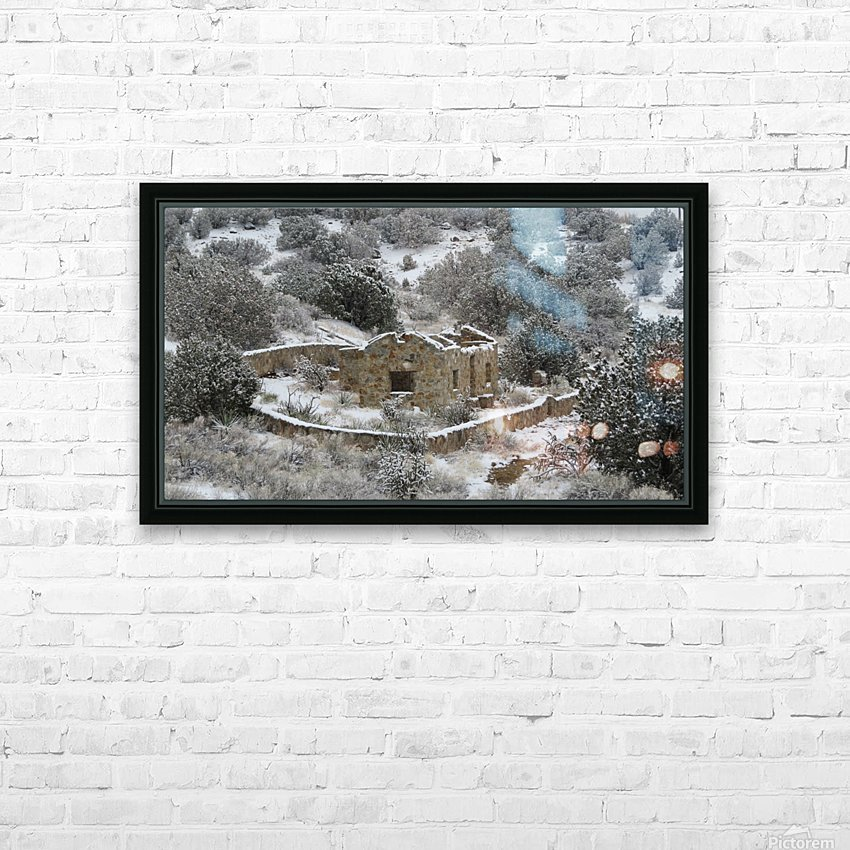 Ruins - Juan Tabo in Snow 2VP HD Sublimation Metal print with Decorating Float Frame (BOX)