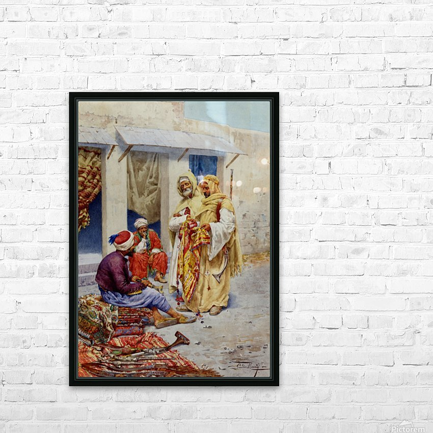 A walk through the market HD Sublimation Metal print with Decorating Float Frame (BOX)