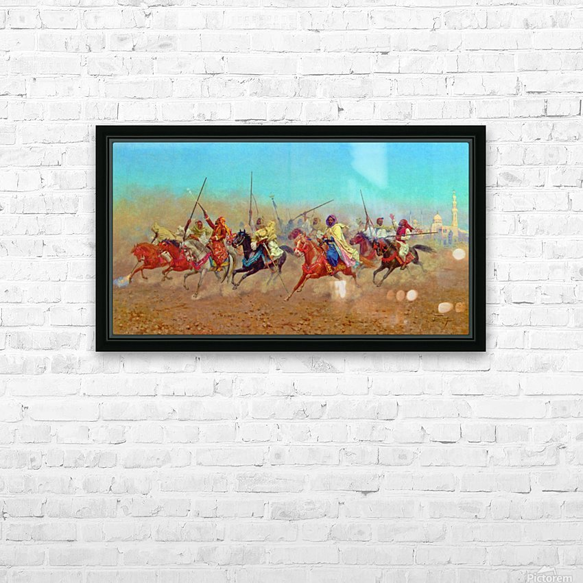 Charging Horsemen HD Sublimation Metal print with Decorating Float Frame (BOX)