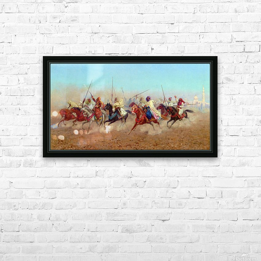 Horsemen Outside The Northern Cemetery HD Sublimation Metal print with Decorating Float Frame (BOX)