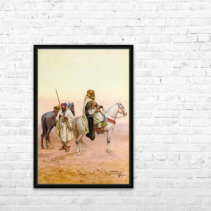 A rest in the desert HD Sublimation Metal print with Decorating Float Frame (BOX)
