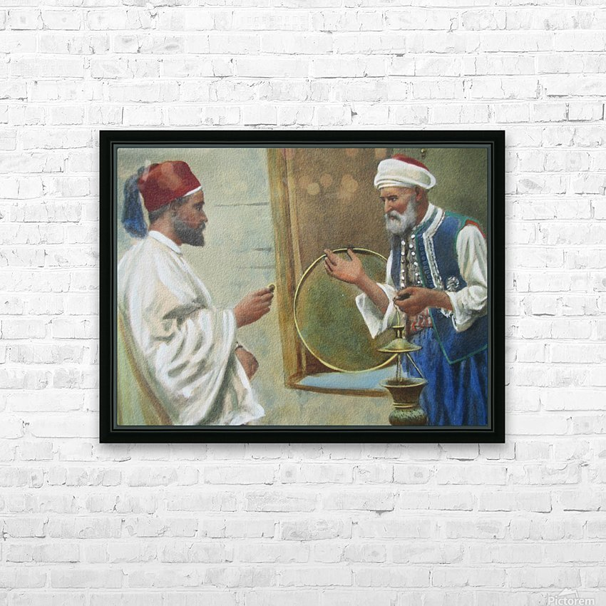 Two arab men chatting HD Sublimation Metal print with Decorating Float Frame (BOX)