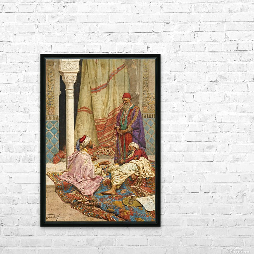 The conversation HD Sublimation Metal print with Decorating Float Frame (BOX)