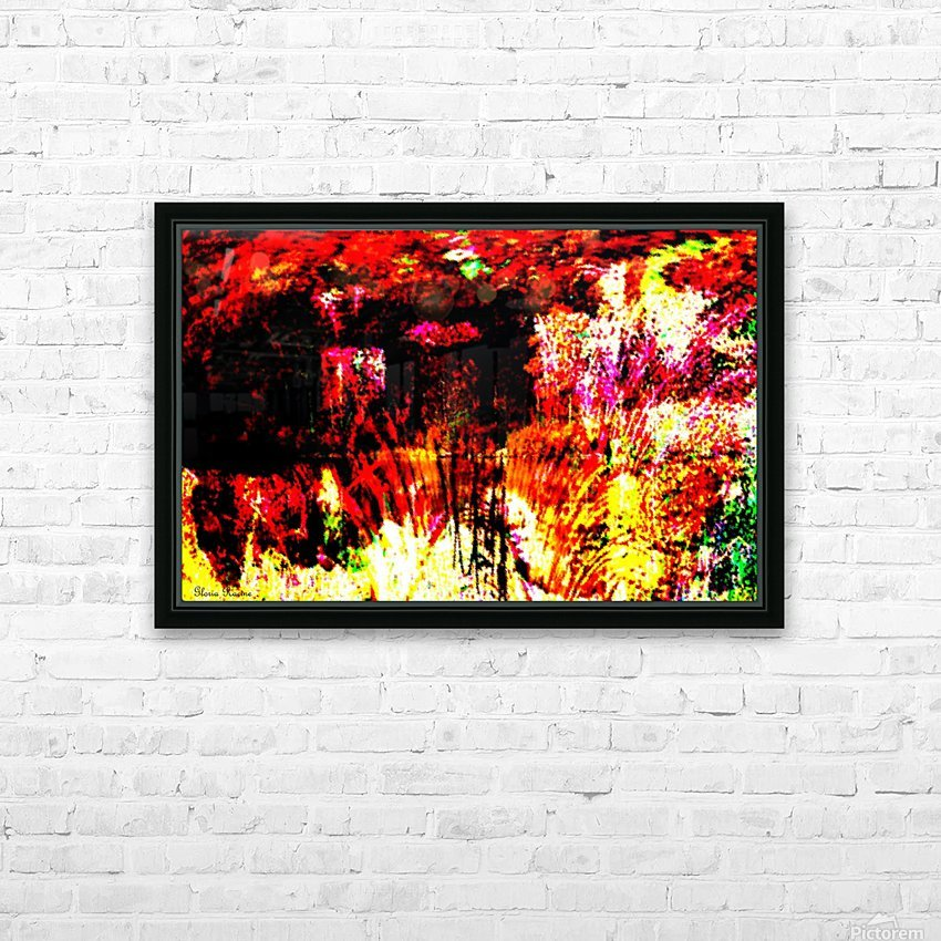 A Colorful Scene  HD Sublimation Metal print with Decorating Float Frame (BOX)