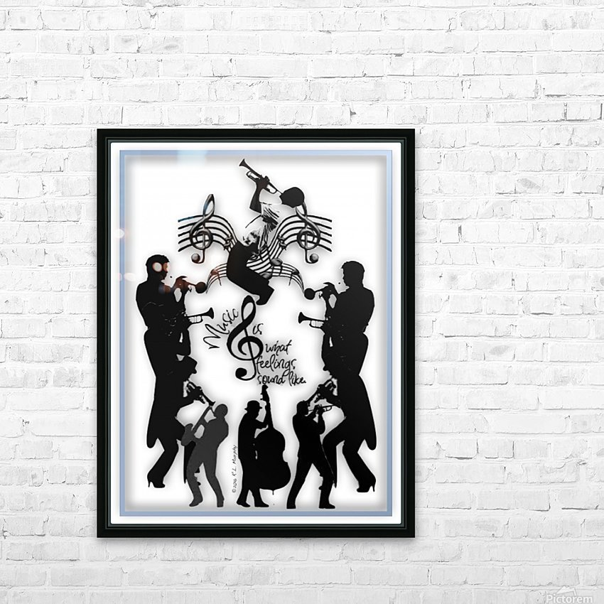 Music Feelings HD Sublimation Metal print with Decorating Float Frame (BOX)