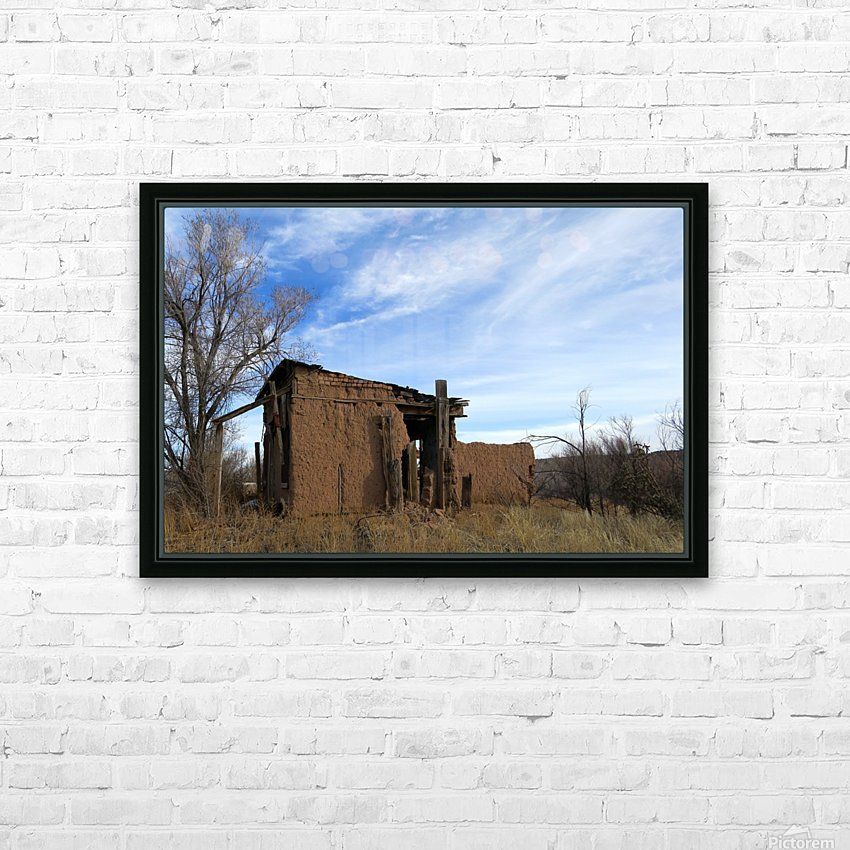 Turquoise Trail - Ruins in Golden 2VP HD Sublimation Metal print with Decorating Float Frame (BOX)
