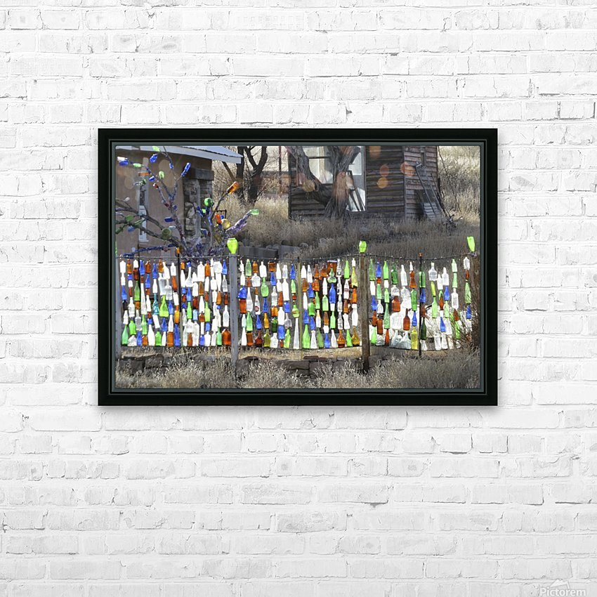 Turquoise Trail - Glass bottles in Golden 2VP HD Sublimation Metal print with Decorating Float Frame (BOX)
