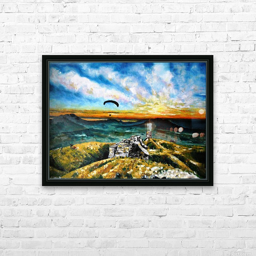 Paragliding HD Sublimation Metal print with Decorating Float Frame (BOX)