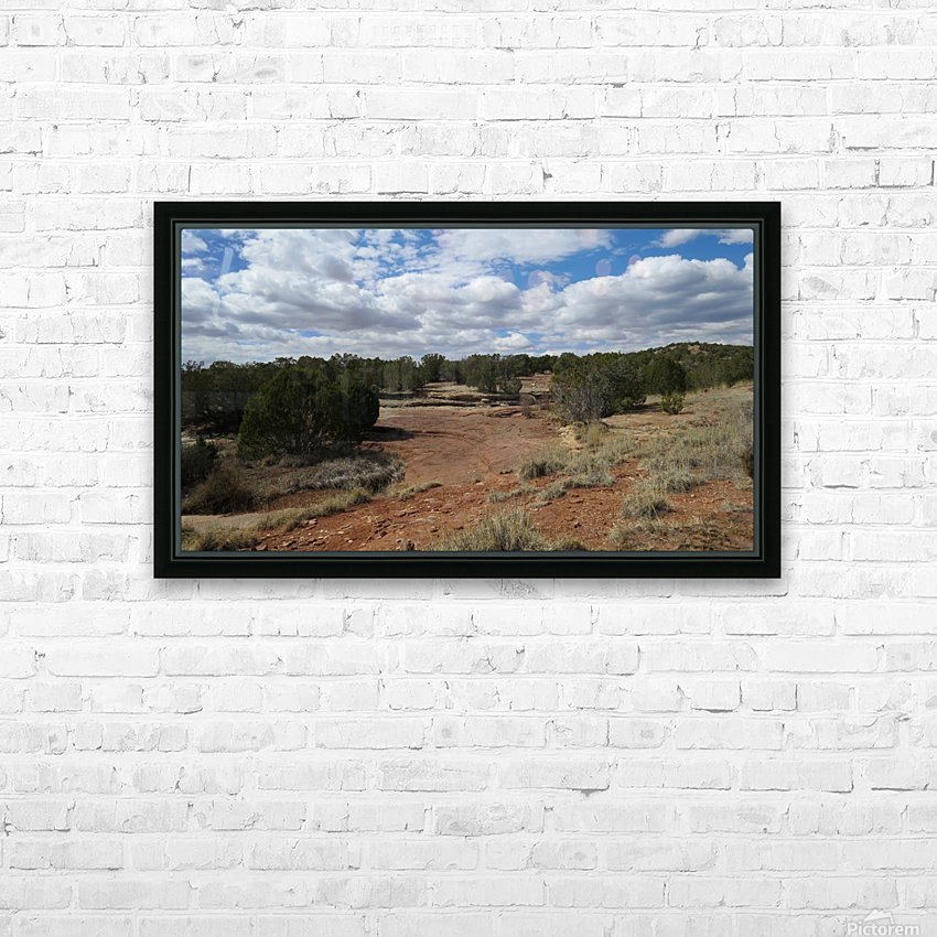 Landscape Near the Ruins of the Abo Pueblo VP9 HD Sublimation Metal print with Decorating Float Frame (BOX)