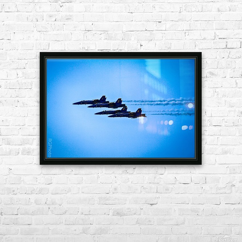 Flight Pattern HD Sublimation Metal print with Decorating Float Frame (BOX)