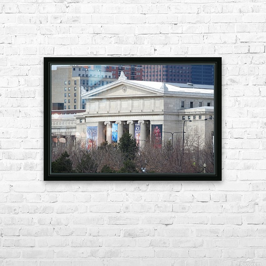 Field Museum from Northerly Island VP11 HD Sublimation Metal print with Decorating Float Frame (BOX)