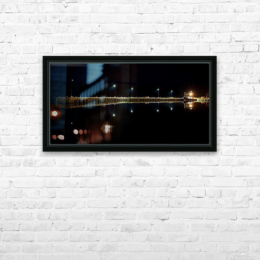 Nighttime at la Digue HD Sublimation Metal print with Decorating Float Frame (BOX)