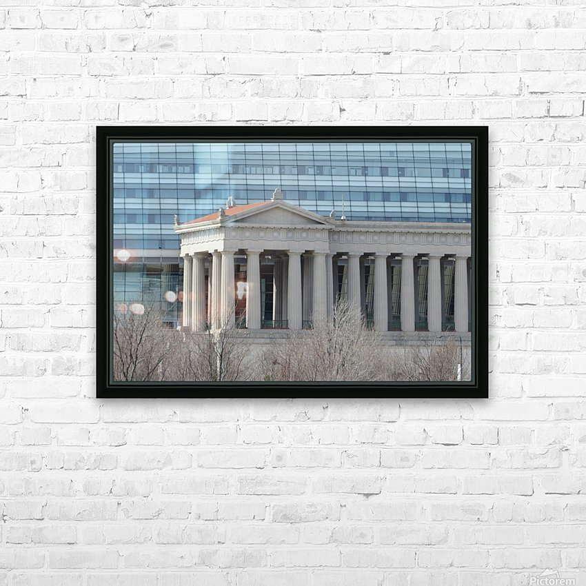 Soldiers Field from Northerly Island VP9 HD Sublimation Metal print with Decorating Float Frame (BOX)