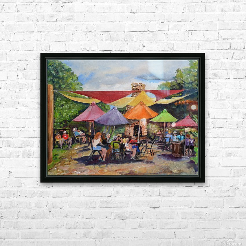 Under The Umbrellas At The Cartecay Vineyard - Crush Festival  HD Sublimation Metal print with Decorating Float Frame (BOX)