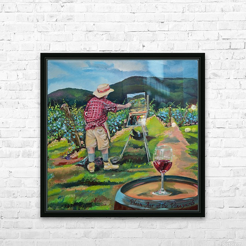 We Paint with Wine- Plein Air in the Vineyard HD Sublimation Metal print with Decorating Float Frame (BOX)