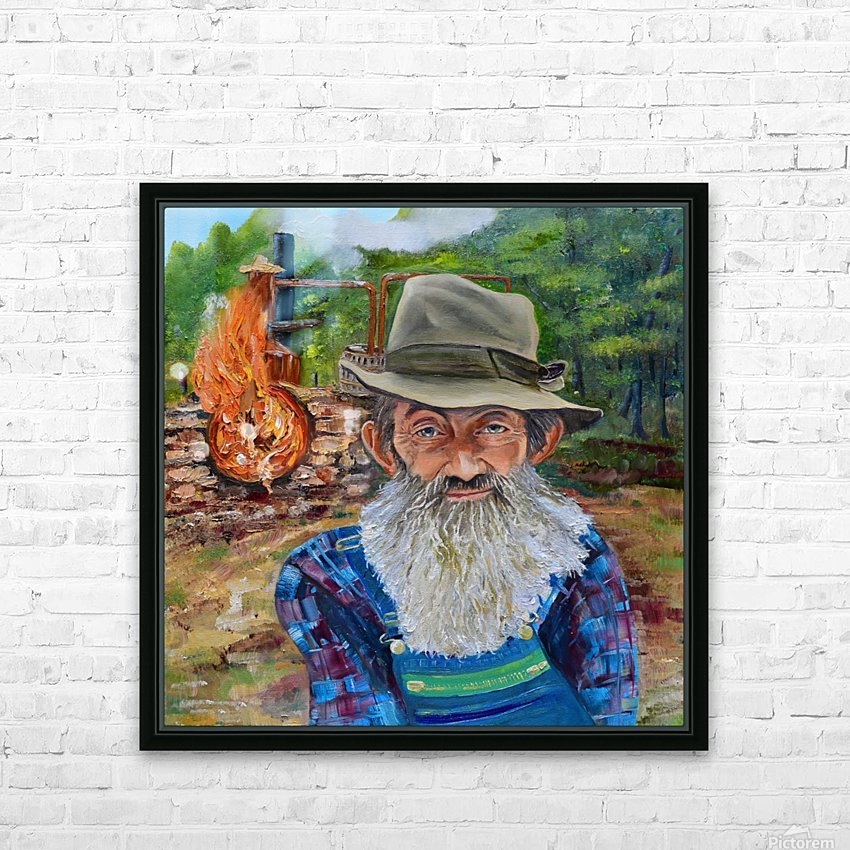 Popcorn Sutton - Rocket Fuel HD Sublimation Metal print with Decorating Float Frame (BOX)
