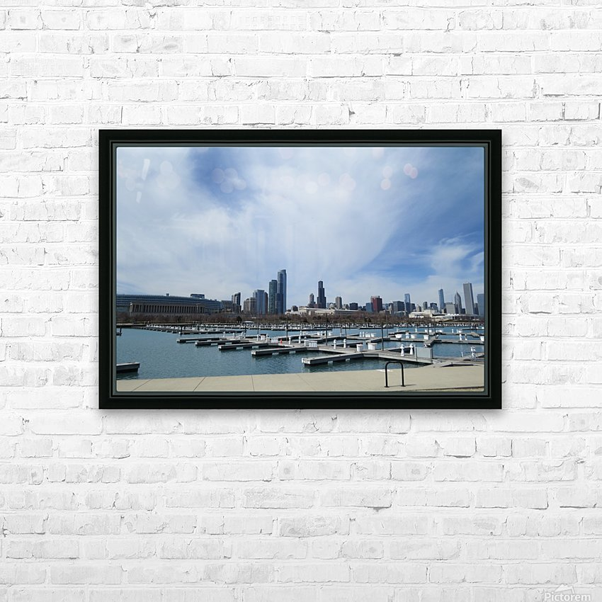 View of Burnham Harbor from Northerly Island  VP4 HD Sublimation Metal print with Decorating Float Frame (BOX)