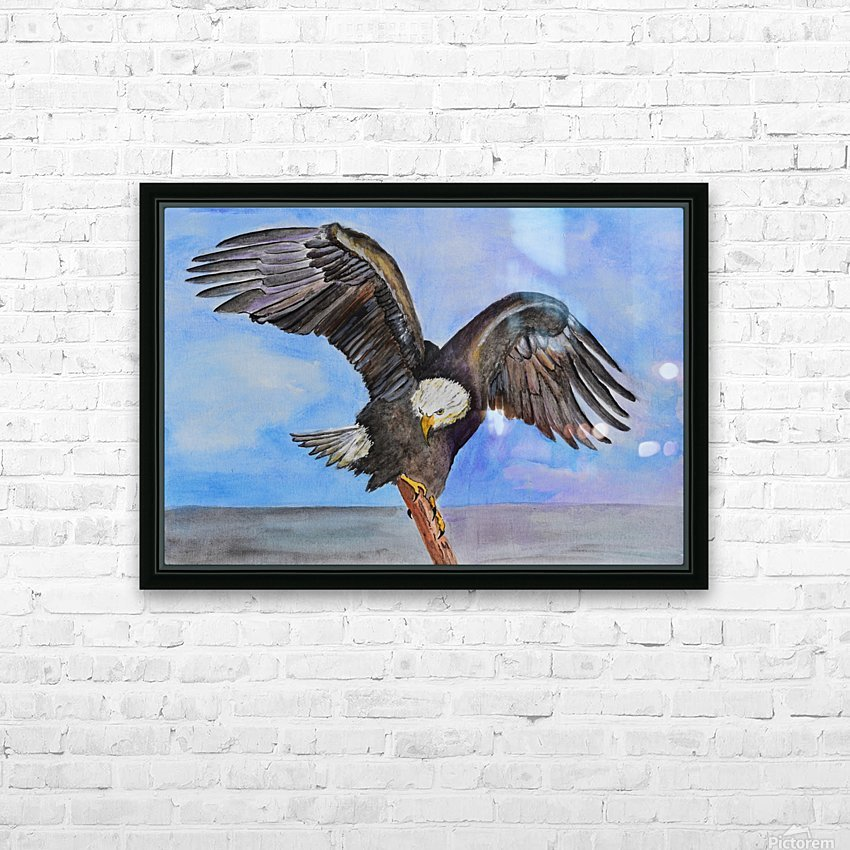 Majestic Eagle  HD Sublimation Metal print with Decorating Float Frame (BOX)