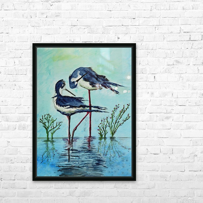 Stilts Bathing  HD Sublimation Metal print with Decorating Float Frame (BOX)