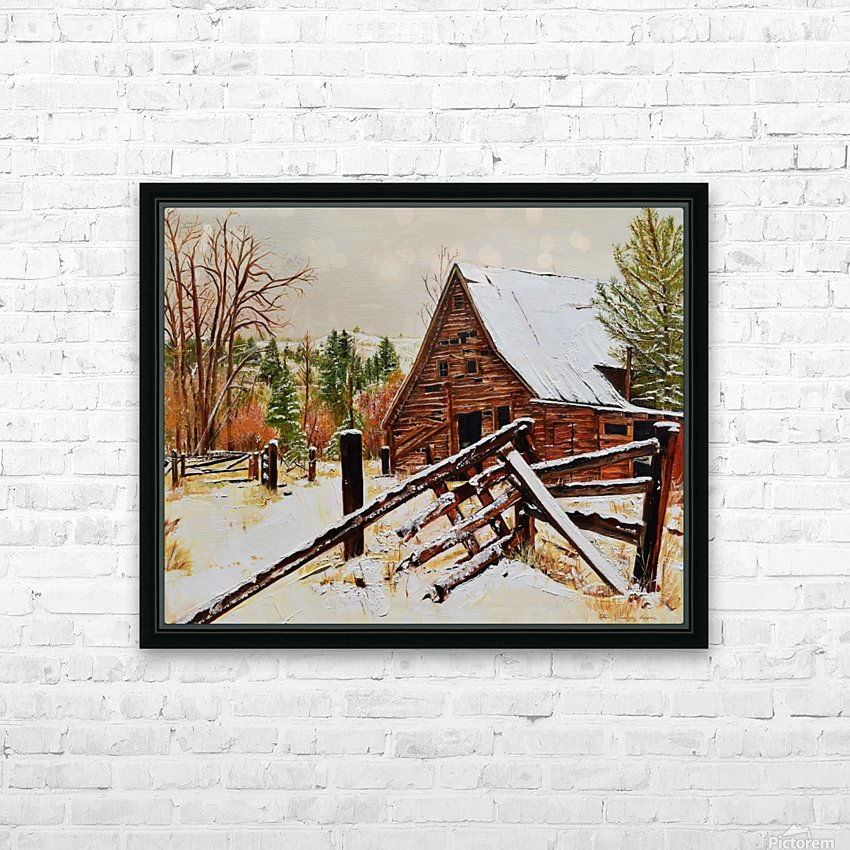 Strong Timbers - A Barn in Nevada HD Sublimation Metal print with Decorating Float Frame (BOX)