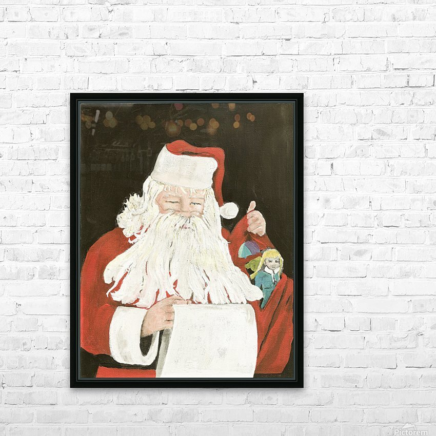 Santa making his list HD Sublimation Metal print with Decorating Float Frame (BOX)