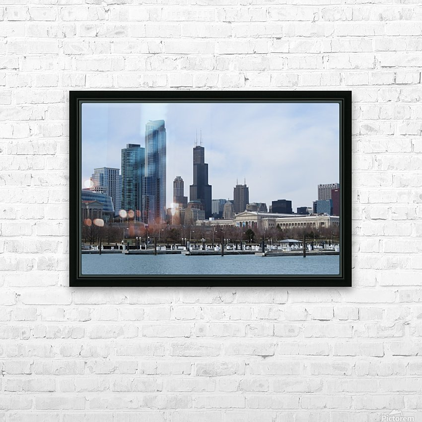 View of Chicago From Northerly Island VP2 HD Sublimation Metal print with Decorating Float Frame (BOX)