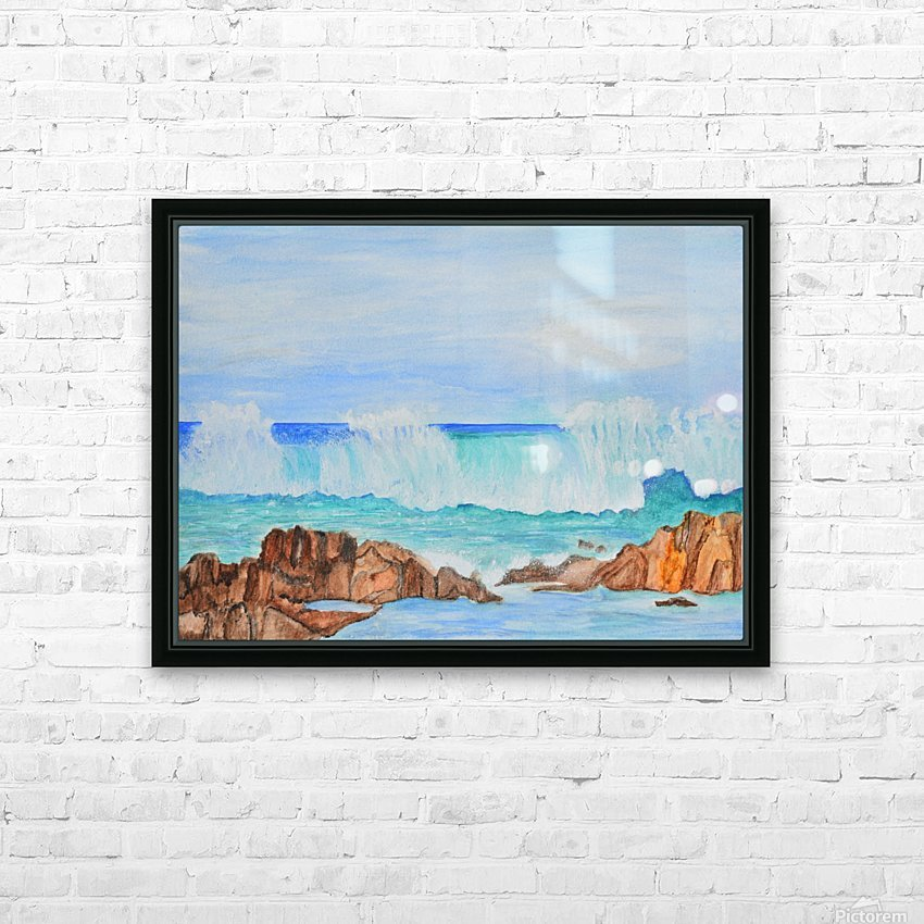 Ocean Wave HD Sublimation Metal print with Decorating Float Frame (BOX)