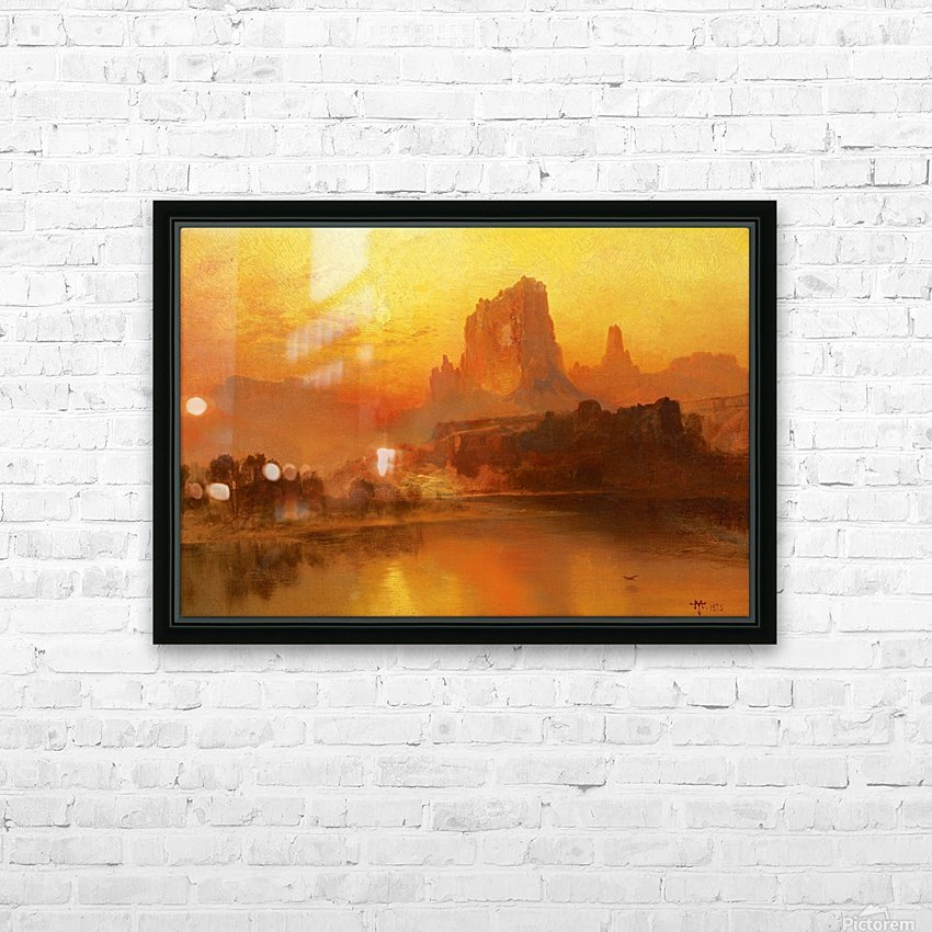 The golden hour HD Sublimation Metal print with Decorating Float Frame (BOX)