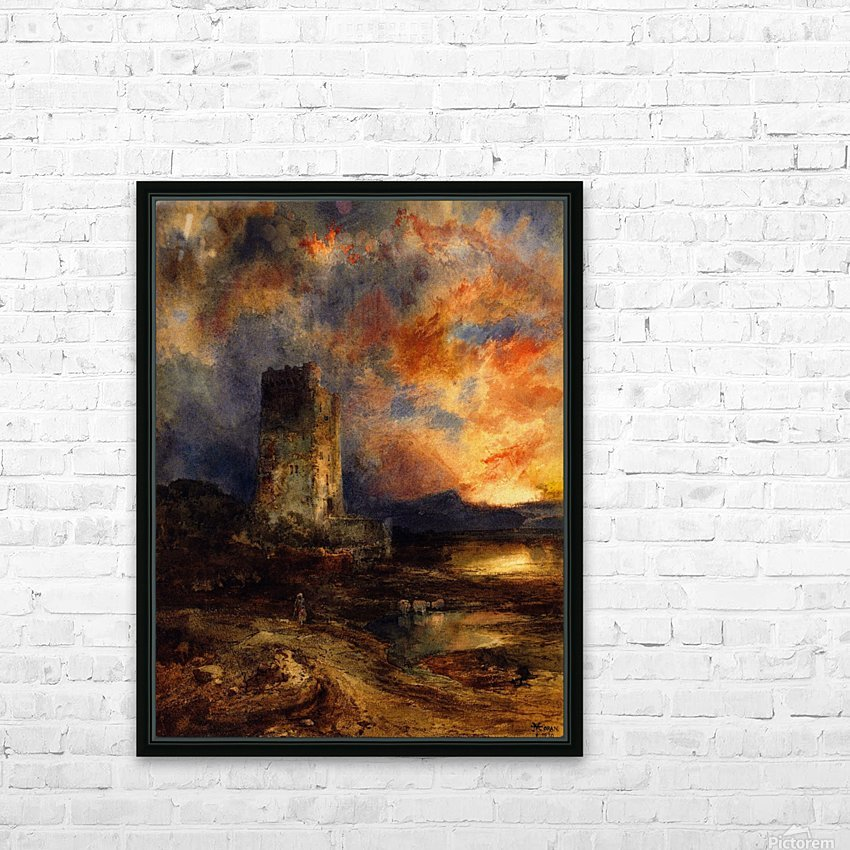 1880 Sunset on the Moor HD Sublimation Metal print with Decorating Float Frame (BOX)