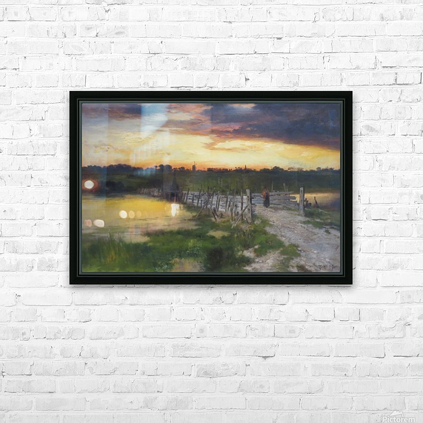 The Old Bridge over Hook Pond, East Hampton, Long Island HD Sublimation Metal print with Decorating Float Frame (BOX)