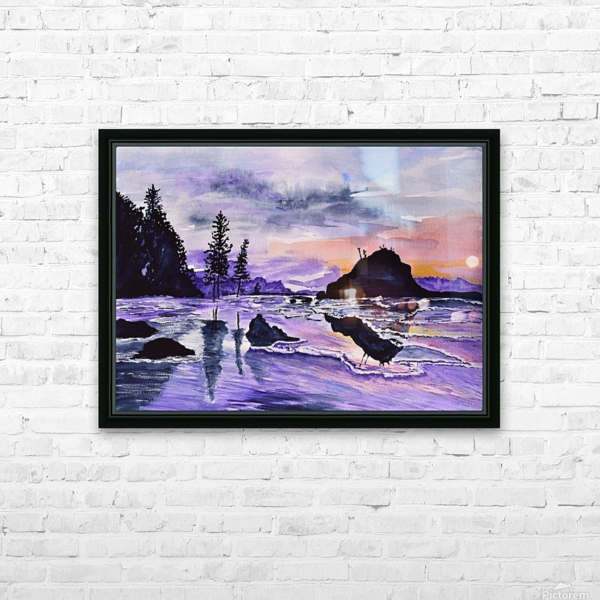 Sunrise Reflection at Second Beach HD Sublimation Metal print with Decorating Float Frame (BOX)