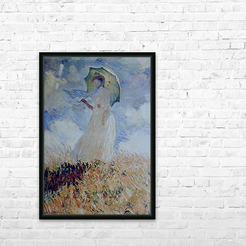 Lady with umbrella HD Sublimation Metal print with Decorating Float Frame (BOX)
