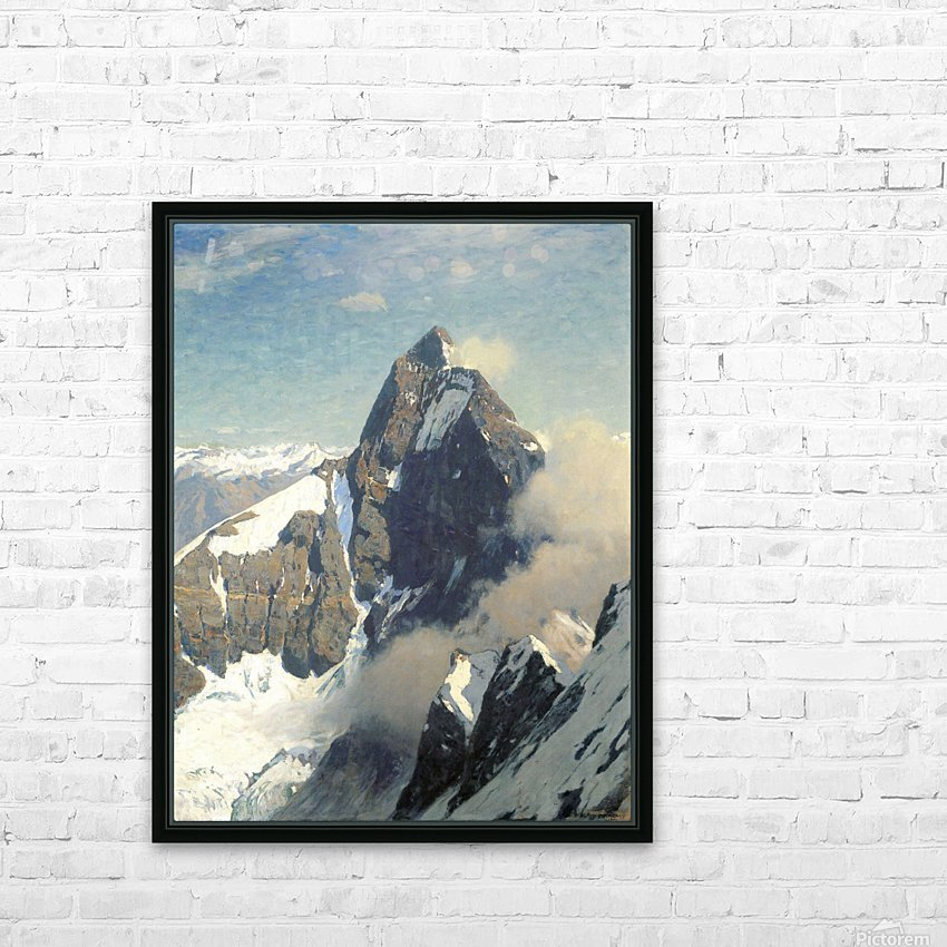 Das Matterhorn von Westen HD Sublimation Metal print with Decorating Float Frame (BOX)
