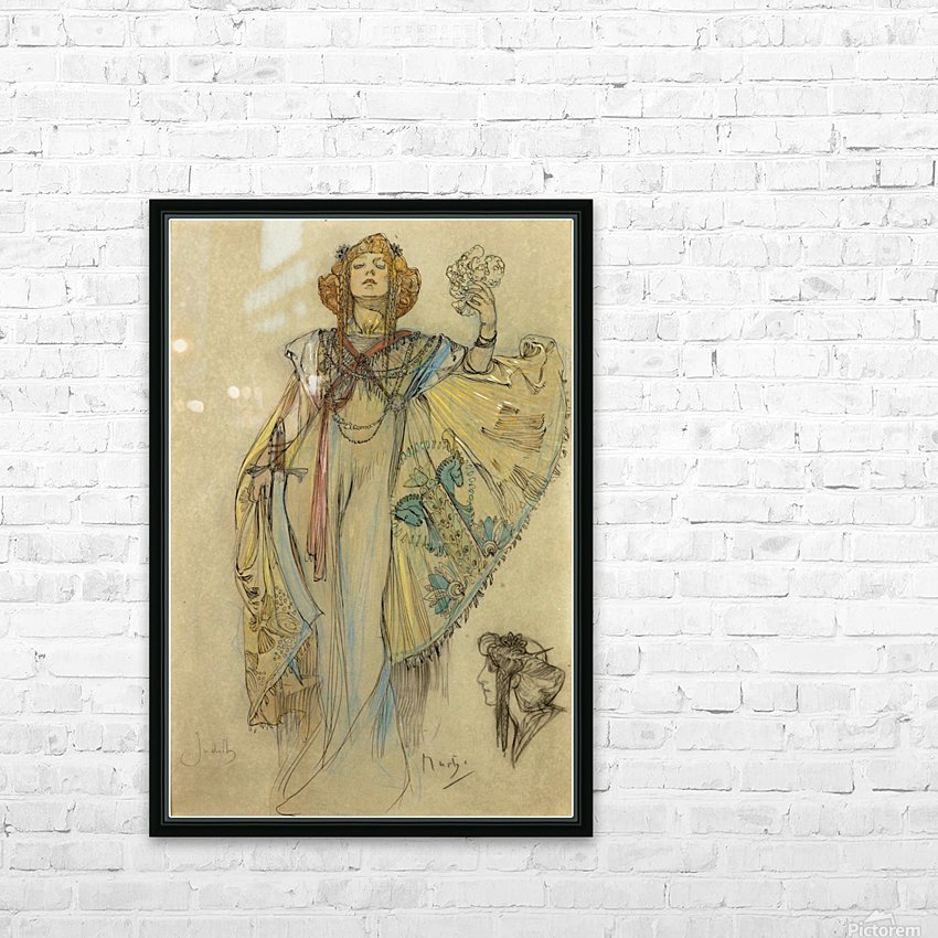 Woman in blue dress HD Sublimation Metal print with Decorating Float Frame (BOX)