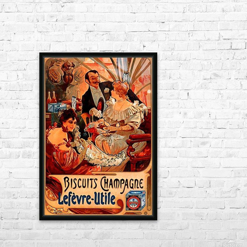 Biscuits Champagne, Lefevre-Utile HD Sublimation Metal print with Decorating Float Frame (BOX)