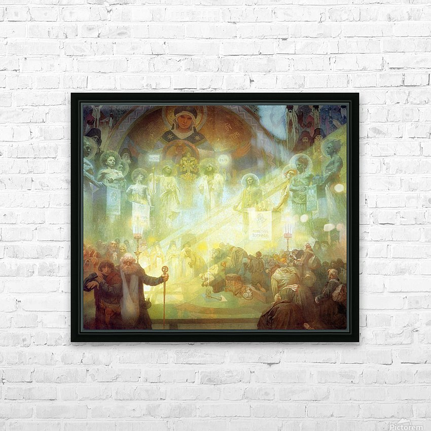 Holy Mount Athos, 1926 HD Sublimation Metal print with Decorating Float Frame (BOX)