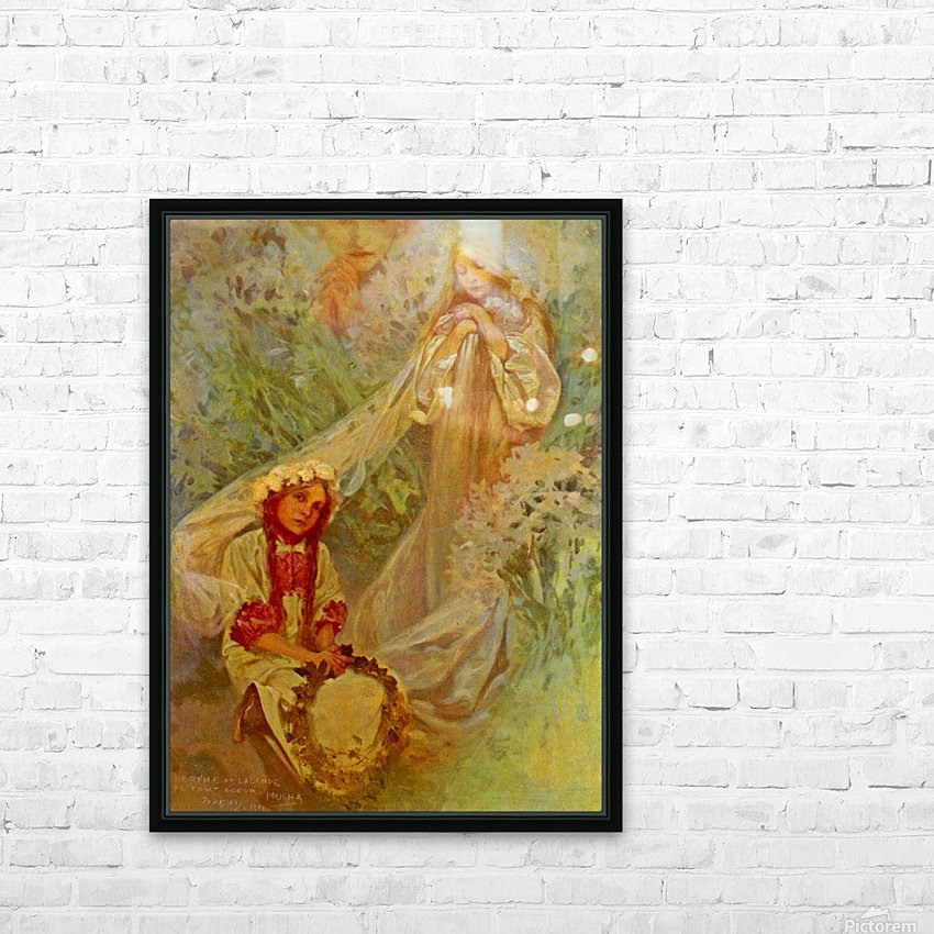 Madonna of the Lilies HD Sublimation Metal print with Decorating Float Frame (BOX)
