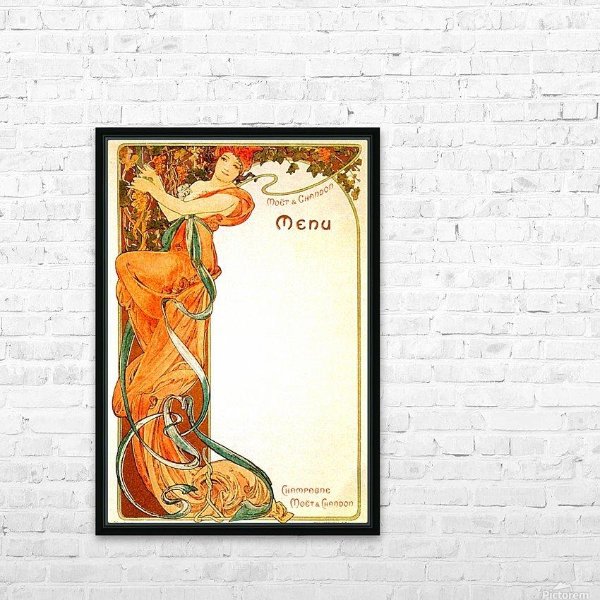 1899 Moet & Chandon menu HD Sublimation Metal print with Decorating Float Frame (BOX)