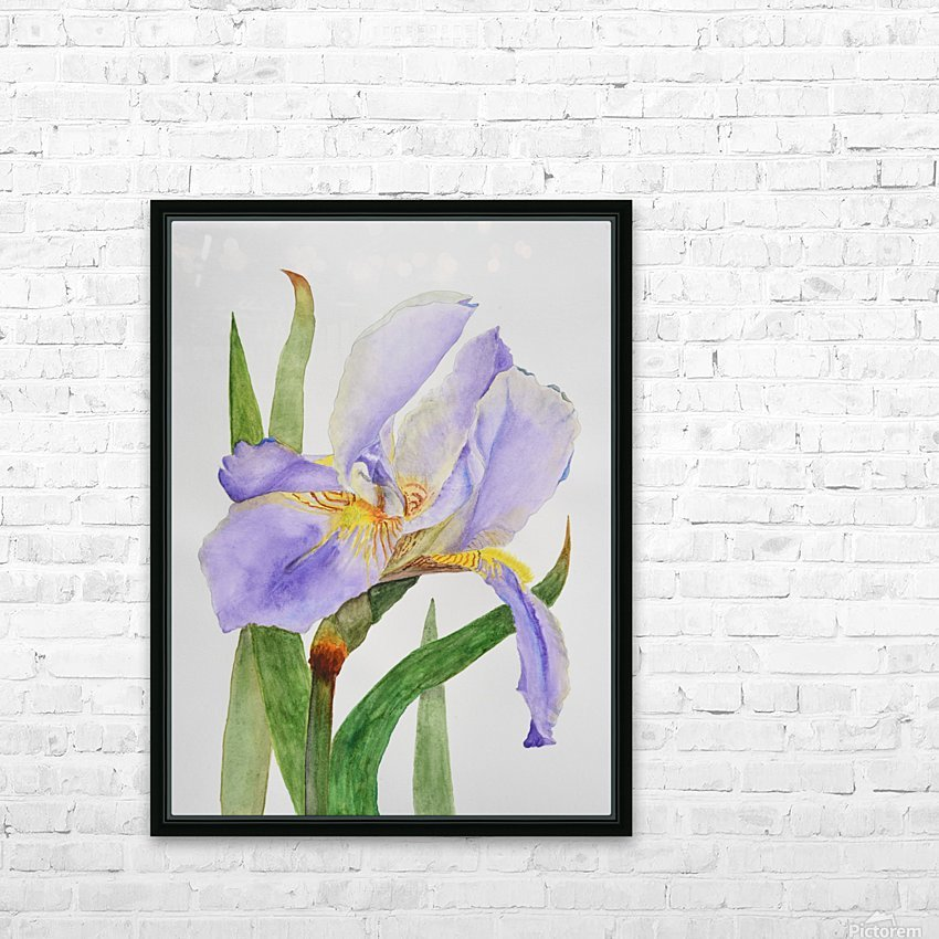 Purple Iris HD Sublimation Metal print with Decorating Float Frame (BOX)