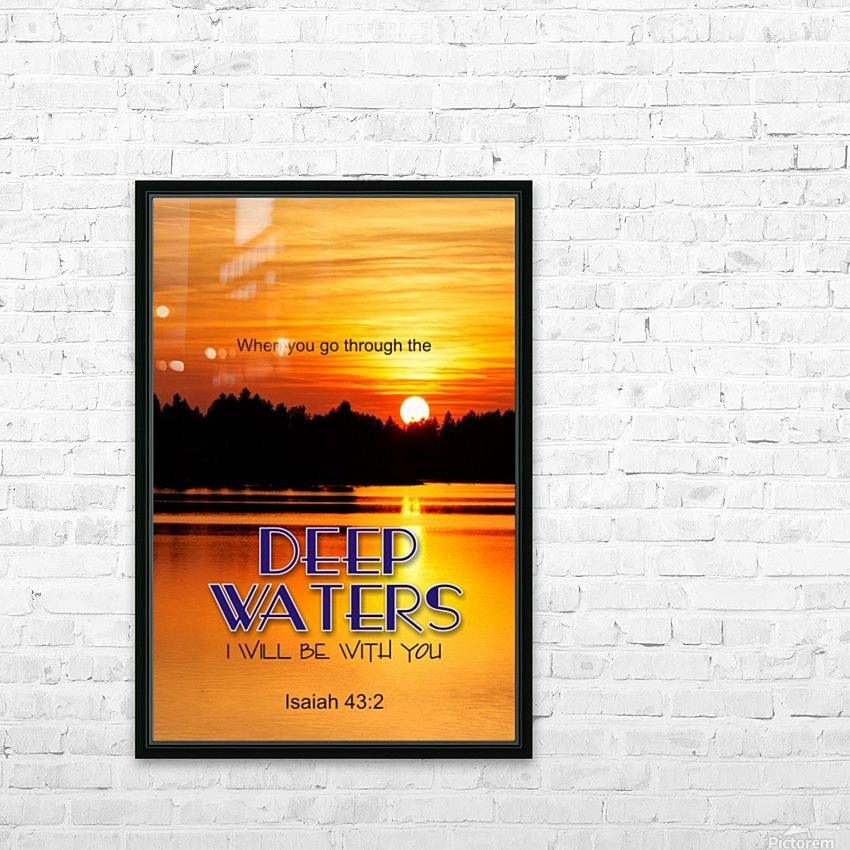 Deep Water HD Sublimation Metal print with Decorating Float Frame (BOX)
