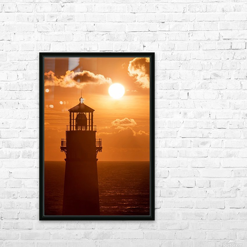 Yaquina Sunset HD Sublimation Metal print with Decorating Float Frame (BOX)
