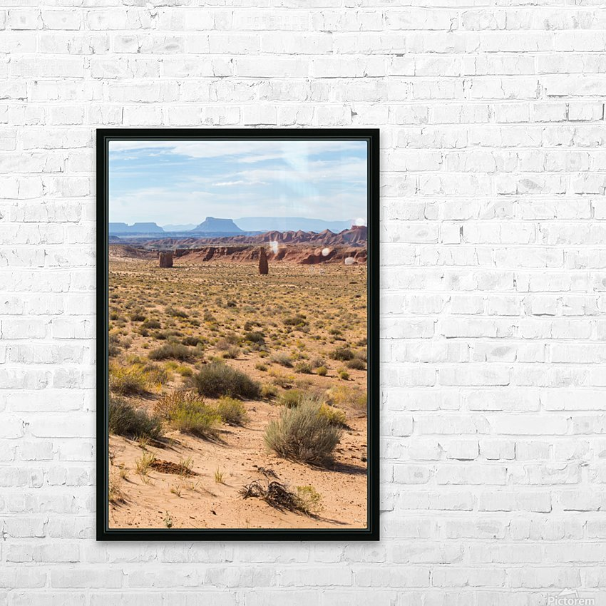 Toward Factory Butte HD Sublimation Metal print with Decorating Float Frame (BOX)