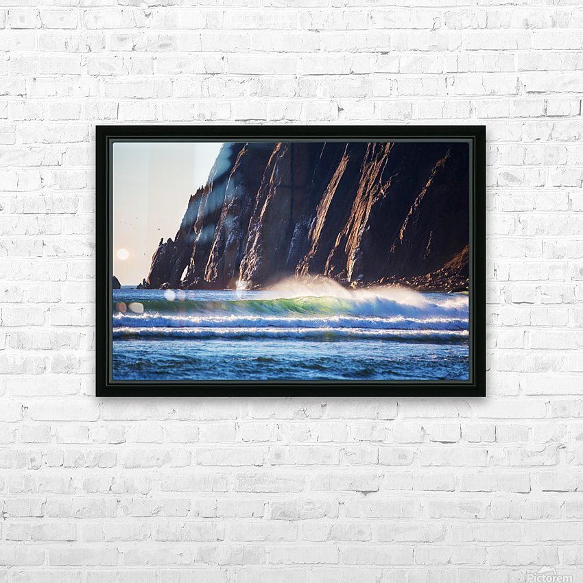 Cliffs of  Neakahnie HD Sublimation Metal print with Decorating Float Frame (BOX)