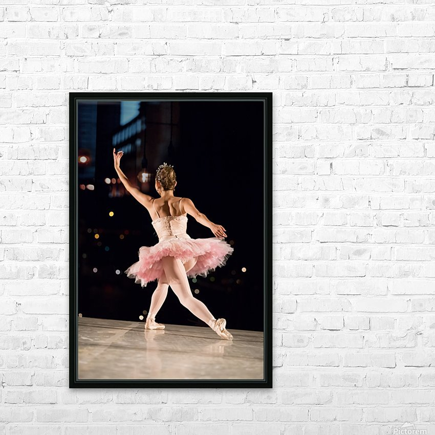 Ballerina 1 HD Sublimation Metal print with Decorating Float Frame (BOX)