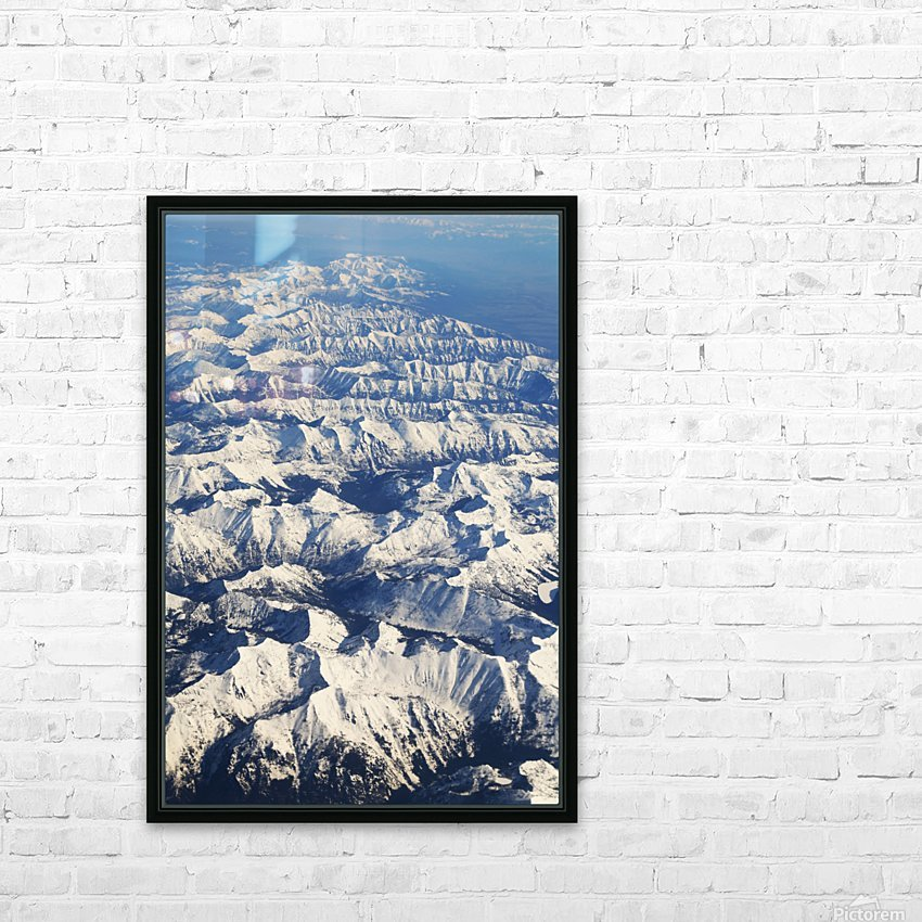 The Rockies HD Sublimation Metal print with Decorating Float Frame (BOX)