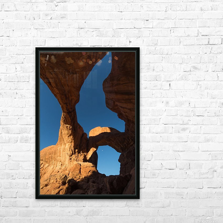 Below Double Arch HD Sublimation Metal print with Decorating Float Frame (BOX)