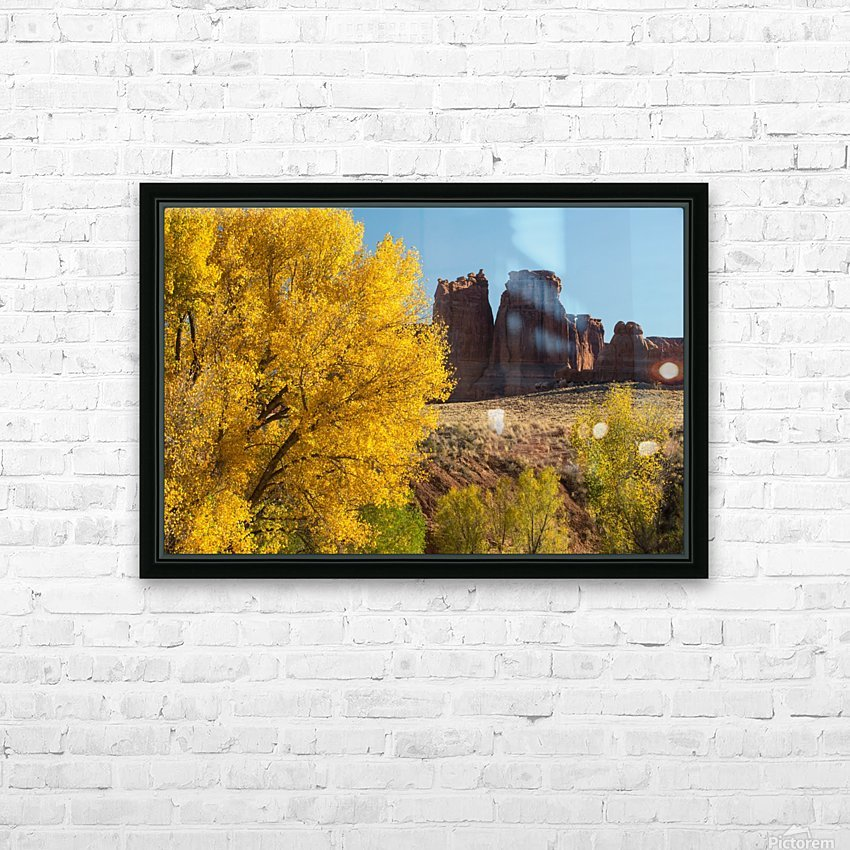 Fall at Courthouse Wash HD Sublimation Metal print with Decorating Float Frame (BOX)