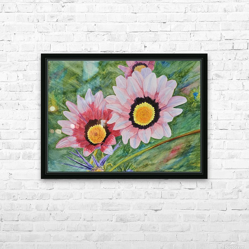 Two Daisies HD Sublimation Metal print with Decorating Float Frame (BOX)