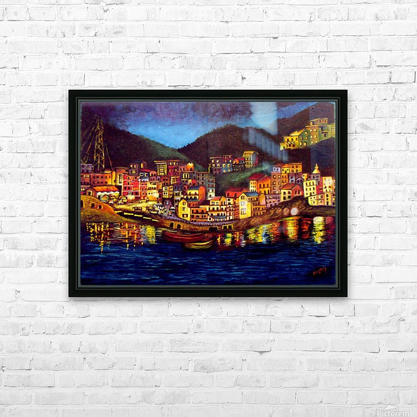 Cinique Terre Impression HD Sublimation Metal print with Decorating Float Frame (BOX)