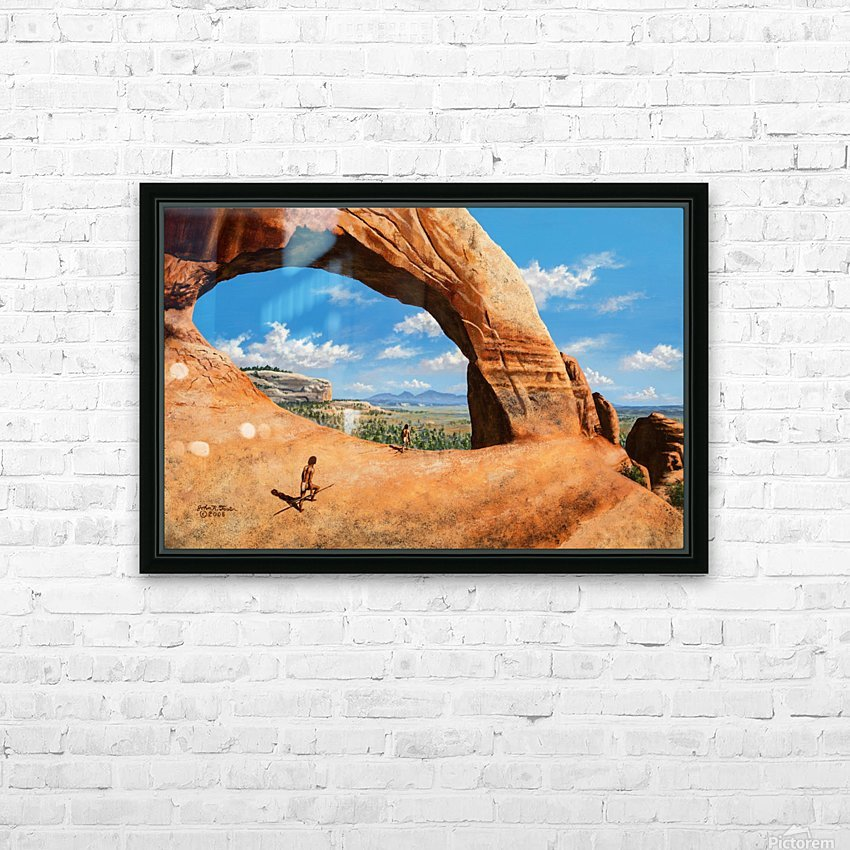 Discoverers of Wilson Arch HD Sublimation Metal print with Decorating Float Frame (BOX)